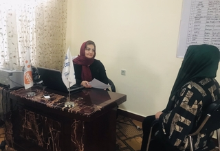 Dr. Azita provides psychosocial counselling to GBV survivors at FPC - © UNFPA Afghanistan