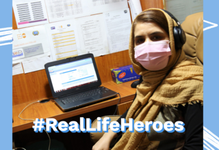 Dr. Humaira, responses the callers during her work at the YHL Centre - ©UNFPA Afghanistan/Zaeem Abdul Rahman
