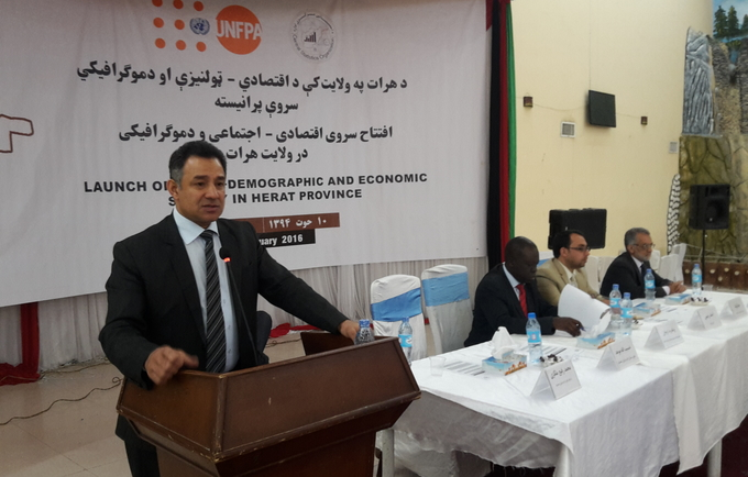 Herat province undertakes the Socio-Demographic and Economic Survey