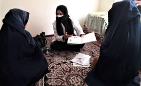Spozhmai, the midwife of FHH provides support to the women in Pichgah village of Roydoab district in Samangan Province